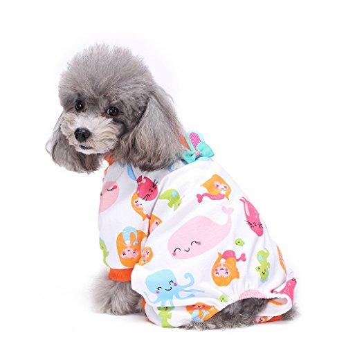 s-lifeeling Hund Kostüme Outfit Mermaid Muster Komfortable Puppy -