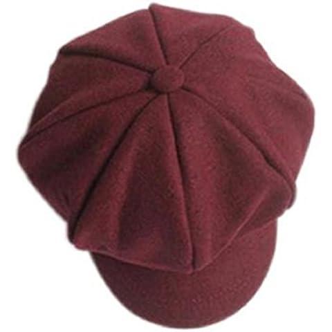 Gorros Bebé,Xinan Gorra de Boina Lana Sombreros Beret Moda (Rojo)