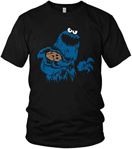 ghostee Herren T-Shirt - Böse Keks-Monster Kostüm, Größe:XL, Farbe:Schwarz