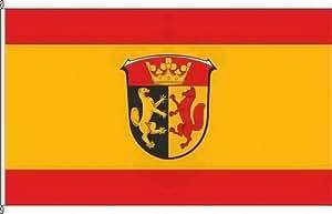 Königsbanner Autoflagge Biebertal - 30 x 45cm - Flagge und Fahne