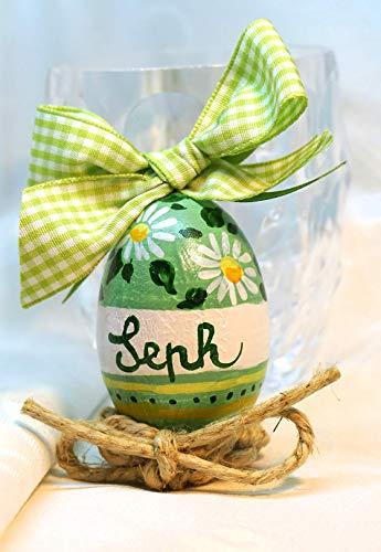Uovo di legno dipinto a mano
