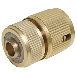 Silverline 196506 Quick Connector Auto Stop Brass 1/2-inch Female