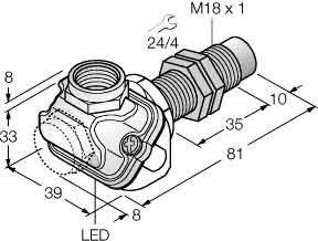 Turck Sensor induktiv NI15U-EM18WDTC-AP6X Induktiver Näherungsschalter 4047101209891
