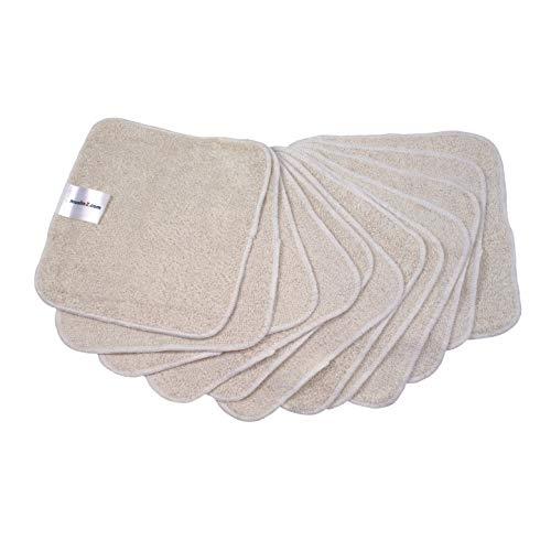 MuslinZ Wipes Lot de 12 lingettes en coton/bambou pour bébé Lavables