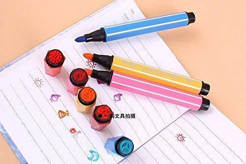 StationeryBurst Importato di Alta qualità Schizzo Penne con Stamps/Seal su Pen (Confezione da 24)