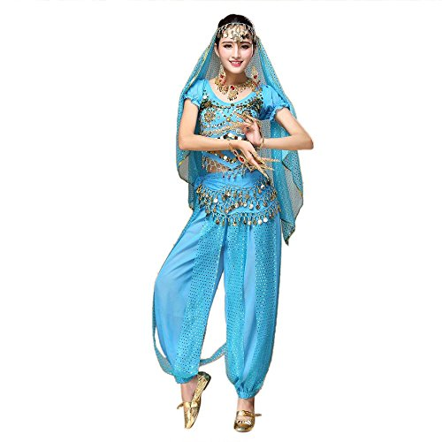 OSYARD Frauen Bauchtanz Outfit Kostüm Indien Tanz Kleidung -
