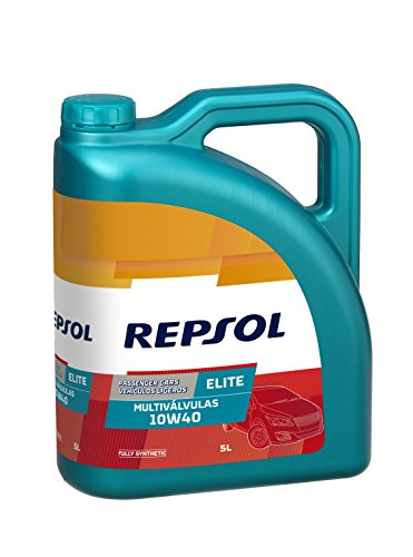 Repsol RP141N55 Elite Multiválvulas 10W-40 Aceite de Motor para Coche, 5 L