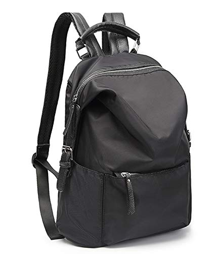 LIEOAG Damenrucksack Wasserdichter Reiserucksack Umhängetasche Studententasche Lässige Oxford Fashion Daypack-black (Video-kompressions-software)