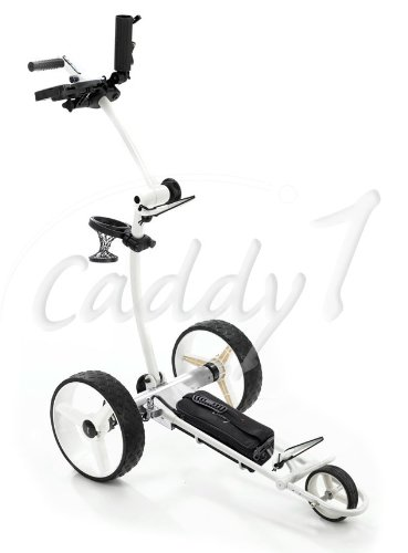 Design-Elektro-Golf-Trolley CADDYONE 700 Weiß mit Lithium-Akku