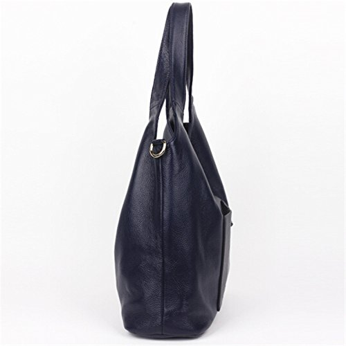 brown neue einfache umhängetasche lady beutel, weiches leder, leder - tasche königsblau