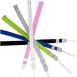 Deanyi 6pcs Poignet Main Universel Bracelet Bracelet Wristband avec Serrure pour la télécommande Wii, téléphone Portable, MP3, Appareil Photo numérique Couleur aléatoire Produits pour Maison/Cuisine