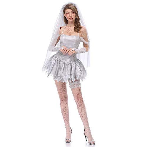 Halloween kostüm, Halloween Cosplay kostüm Halloween Cosplay Horror Kostüm,verschleierte Ghost Bride Corpse Art Kostüm Halloween - Kind Corpse Bride Kostüm