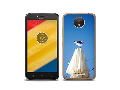 etuo Motorola Moto C - Hülle Foto Case - Möwe - Handyhülle Schutzhülle Etui Case Cover Tasche für Handy