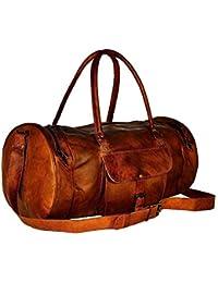 Borsone da viaggio Duffle Gym Bag Borsa da viaggio vintage da viaggio in vera  pelle 58b774a1243