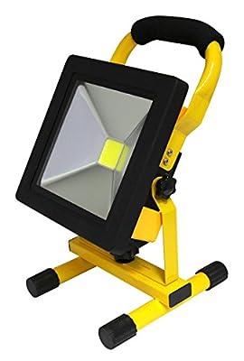 20W Portable LED Work Light Cordless Rechargeable IP65 12v LED Light Hand Lamp, LED Flood Lights Daylight White by Long Life Lamp Company