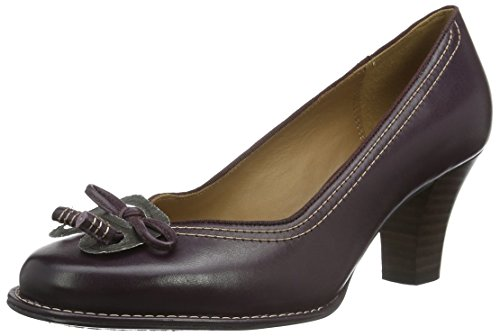 Clarks Damen Bombay Lights Pumps, Violett (Aubergine Leather), 40 EU