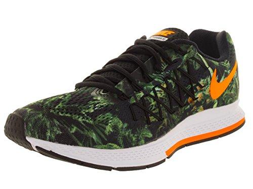 Nike Air Zoom Pegasus 32 Solstice, Chaussures de Running Entrainement Homme, Taille Noir / Vert / Gris (Blck / Brght Ctrs-Wlf / Tropical)