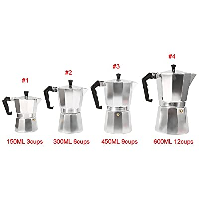 Moka Express Espresso Latte Cafetiere Coffee Maker for cooking from Haofy
