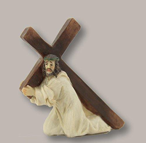 Figuras de la pasión: Jesús BAJO EL CRUZ, para aprox. 5cm figuras