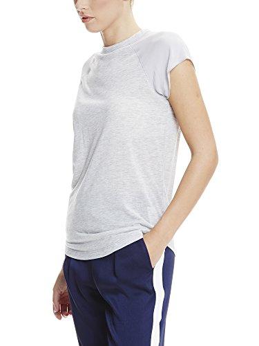 Bench Damen T-Shirt Kurzarm Material Patch Tee Grau (Summer Grey Marl MA1026)