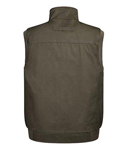 Cheerlife Herren Outdoor Sport Weste mit Taschen Multi-Taschened Weste für Camping Jagd Fischen Herbst Winter Minitärgrün