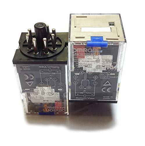 MKS2PIN DC24   376774   OMRON RELAIS-PLUG-IN 8-PIN-DPDT 10A-LED-ANZEIGEN VERRIEGELBARE PRÜFSTASTE 24VDC Omron Plug-in