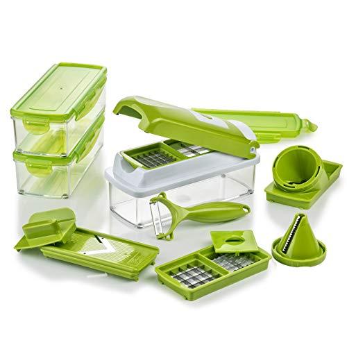 Genius Nicer Dicer Smart - Juego para cortar, picar y rallar los alimentos 16 piezas