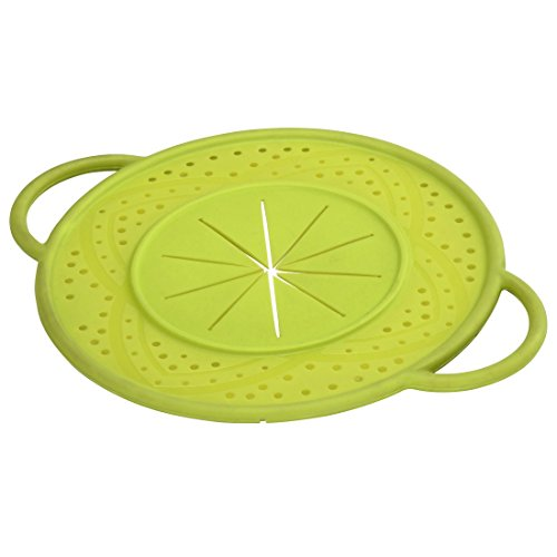 Hama Silicone boil over protector, lid to protect from boil over, for pots and pans, green, Plastic, grün, rund 21 cm
