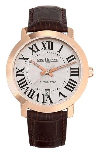 Saint Honoré Homme Analogique Quartz Montre avec Bracelet en Cuir 8970208ARF