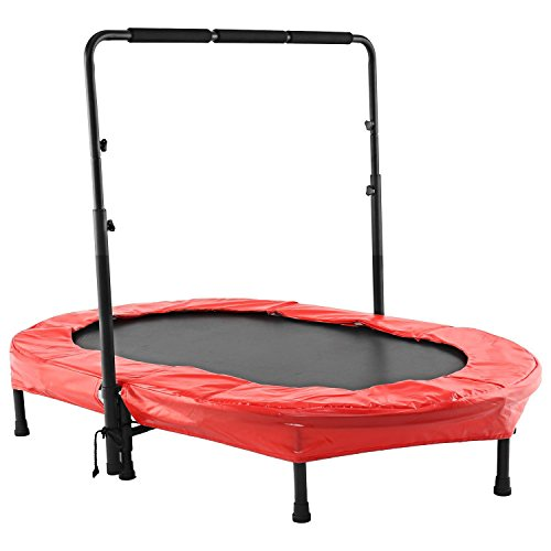 Creine Trampolin Kinder, Kindertrampolin Trampolin mit Griff Gartentrampolin Minitrampolin Faltbar Klein Indoor Outdoor Sport für Kinder ab 3 Jahren