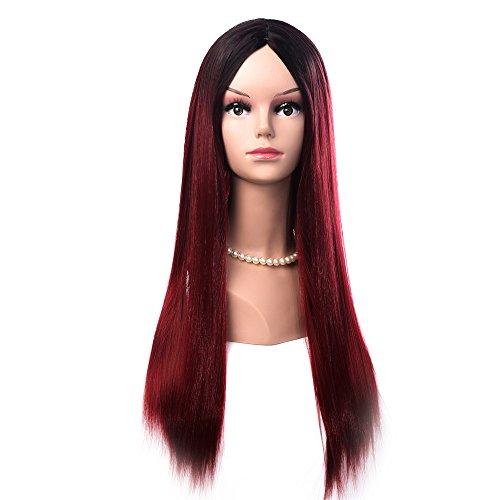 Cosplay Perücke für Mädchen und Frauen, 68 cm lang, mehrfarbig, tolle Haarperücke für Halloween-Partys, Cosplay