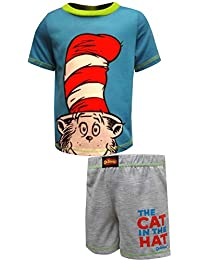 8fa1ef1a0 Komar Kids Boys' Dr. Seuss Cat in The Hat Short Pajamas