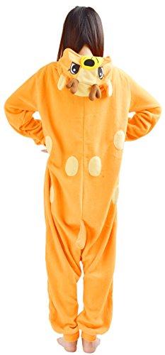 YARBAR Onesies des animaux Cosplay pyjamas unisexes adulte costume d'Halloween Combinaison de Deer Kigurumi Carnaval Orange