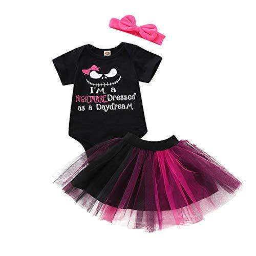 Kostüm Tutu Mit Rosa - SUCES Newborn Baby Halloween Outfits 2 stücke Tutu Röcke Kostüm Kleidung Set Mädchen Kinder Romper Overalls mit Tüllrock Party Rock Petticoat Babyset Kinderkleidung