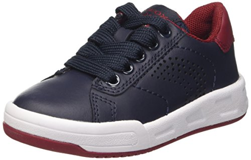 Geox J Rolk Boy D Jungen Low-Top Blau (Navy/dk Redc4244)