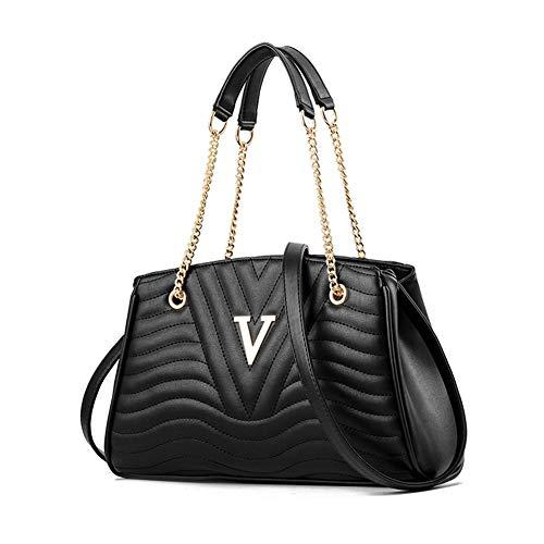 Mueka Damen Tasche,V-förmiger Einfacher Kettenbeutel,Stilvoller Und Eleganter Stil