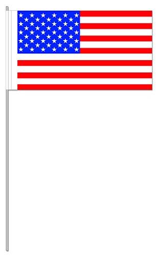 10 Fähnchen * USA * als Deko für Mottoparty oder Länder-Party // Flaggen Fahnen Papierfahnen flag amerika Stars an Stripes