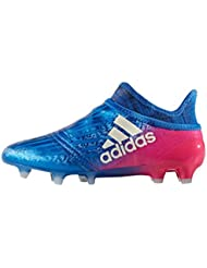 X 16+ Pure Chaos Kids FG Football Boots - Blue/White/Shock Pink