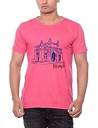 CITEES Mumbai Gateway Of India T-Shirt - Pink Melange