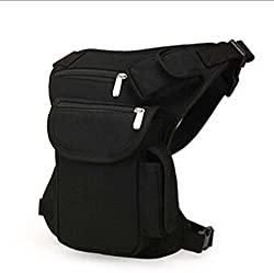 Canvas Thigh Pouch Case Bag for Bike Motorcycle Mountain Bike - Black