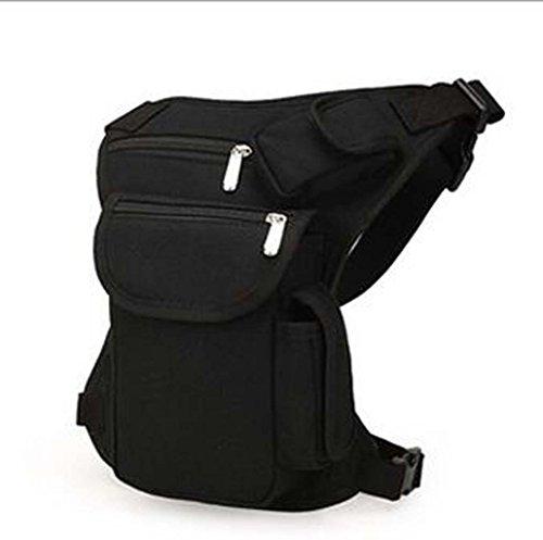 Leinwand Oberschenkeltasche Beintasche für Fahrrad Motorrad Mountainbike - Schwarz