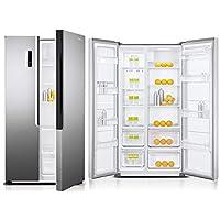 Super General 600 L Side-by-Side Refrigerator SGR710SBS/ Silver/ Temperature Control/ LED Lighting/ Carbon Filter