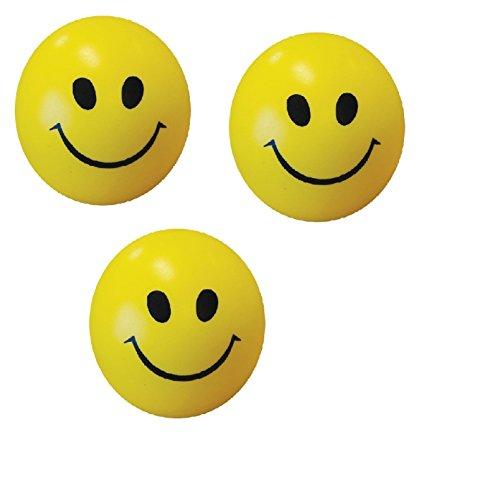 Albagajjar Smiley Face Squeeze Ball (Yellow) - Set of 3
