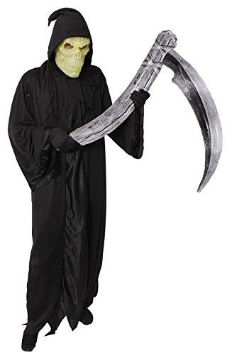 Halloween Kostüme 2017 Lustige (HALLOWEEN = GEVATTER TOD ODER SENSENMANN-REAPER = KOSTÜM FÜR ERWACHSENE = UNISEX = ERHALTBAR IN VERSCHIEDENEN AUSFÜHRUNGEN UND IN 6 VERSCHIEDENEN GRÖßEN= VON ILOVEFANCYDRESS®= PERFECTE VERKLEIDUNG AN HALLOWEEN ODER FASCHING)