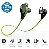 Moblios Wireless 4.0 Handfree Stereo Sports Bluetooth Headset For All Smartphones (1 Year Warranty, Color May Vary)