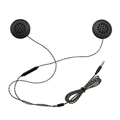 docooler Cuffie cablate Casco interfono per motociclette Auricolare Stereo di Alta qualità da 3,5 mm con Microfono HD per Motociclista