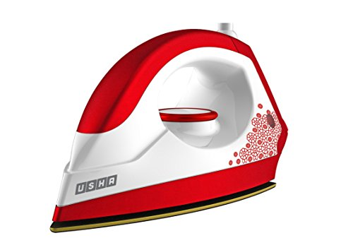 Usha 3302 1100-Watt Dry Iron (Gold and Velvet Red)