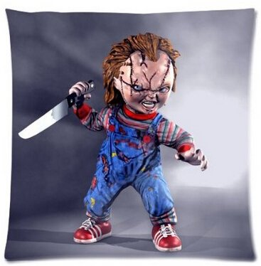 UK-Jewelry Hot Horror Movies Seed Of Chucky Standard Square Zippered Pillowcase Pillow Sham 18x18 Inch