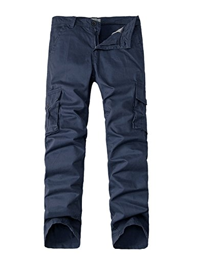 Menschwear Herren Cargo Hosen Freizeit Multi-Taschen Military pantaloni Ripstop Cargo da uomo (33) (Jean Herren Polo Us Slim Assn)