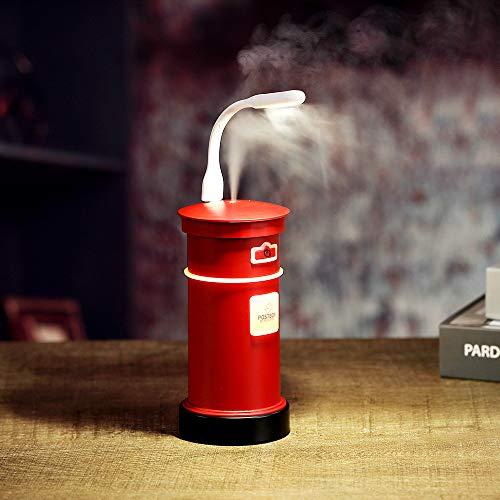 LUFEILI Neue Briefkasten Luftbefeuchter kreative Mini-USB-Postfach Luftreiniger feuchtigkeitsbefeuchtenden Wasser Anti-Trocknung Duft